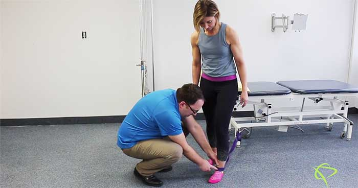 Edmonton Physiotherapist explains how to to improve the Dorsiflexion of the foot