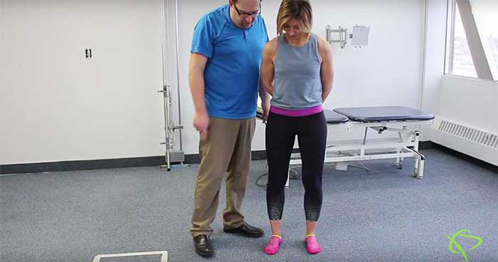 Edmonton Physiotherapist shows how to strengthen abductor hallucis muscles