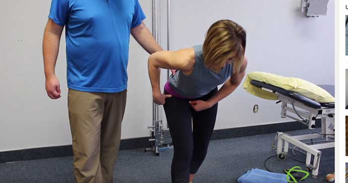Physiotherapist explains how to do Hip Mobilization with band Exercises