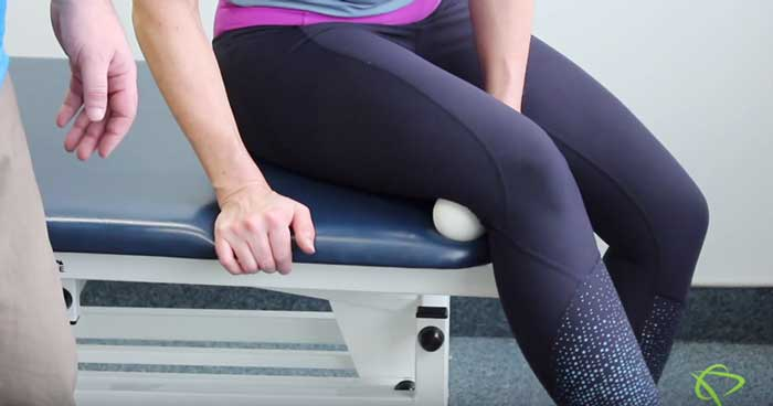 Physiotherapist explains how to do hamstring mobilization exercise