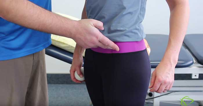 Self-massage hip flexor technique by Pleasantview Physiotherapy