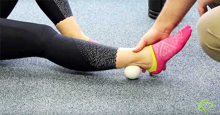 Tennis ball ankle exercises for Edmonton patients