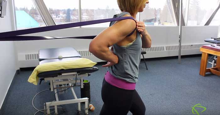 Capsular Shoulder exercises for muscle rotation in Edmonton