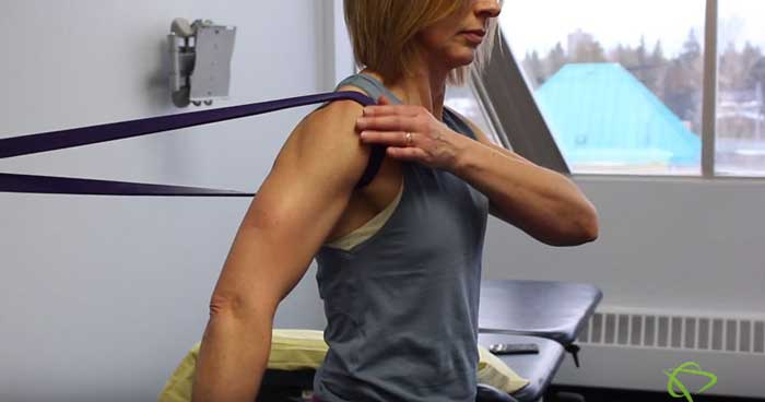 Shoulder Capsular stretches for pain relief in Edmonton